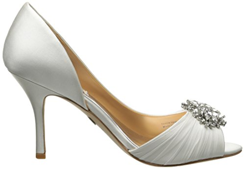 Badgley Mischka Womens Pearson Dorsay Pump Bianco Satinato