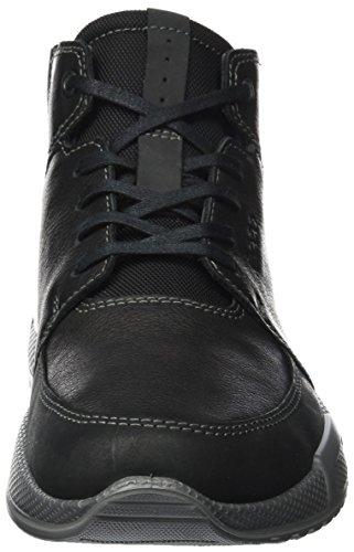 Ecco Herren Luca Hohe Sneaker Schwarz (Black/Black)