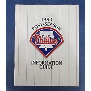 1993 Phillies Postseason Media Guide 126690