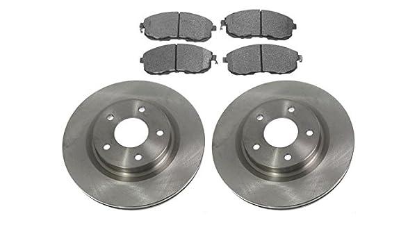 Front Coated Disc Rotors /& Semi-Metallic Brake Pads For Infiniti Nissan
