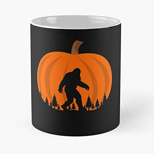 Halloween Bigfoot Sasquatch Pimpkin - 11 Oz Coffee Mugs Unique Ceramic Novelty Cup, The Best Gift For Halloween.]()