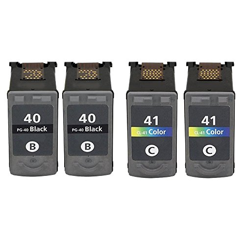 ESTON 4Pack Remanufactured Replacement for PG-40 Black an...
