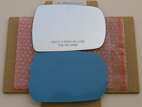 New Replacement Mirror Glass with FULL SIZE ADHESIVE for HYUNDAI ENTOURAGE KIA SEDONA Passenger Side View Right - Entourage Glasses 7 Of