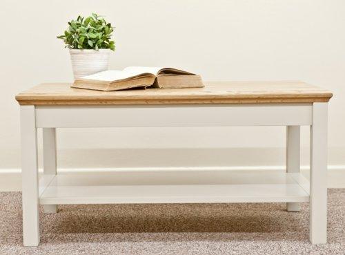 Gestrichene Möbel Wohnzimmer Avana Möbel Wohnzimmertisch mit Ablage