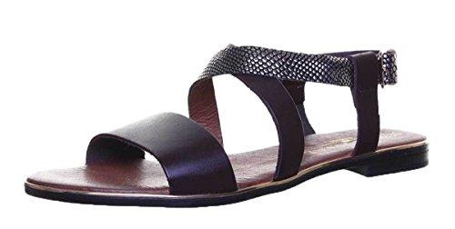 Justin Reece Womens Ladies Leather Strap Sandal Snake Effect Brown i2817iJr