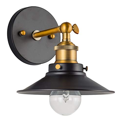 - Andante LED Industrial Wall Sconce Fixture - Antique Brass - Linea di Liara LL-WL407-AB