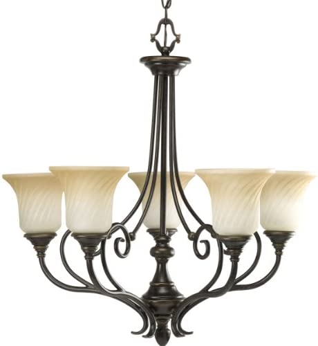 Progress Lighting P4238-77 Chandelier, 27-Inch Diameter x 26-1 2-Inch Height, Forged Bronze