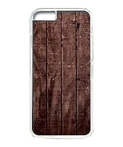 VUTTOO Iphone 6 Plus Case, Wood Floor Texture Hard Case for Apple Iphone 6 Plus 5.5 Inch PC Transparent