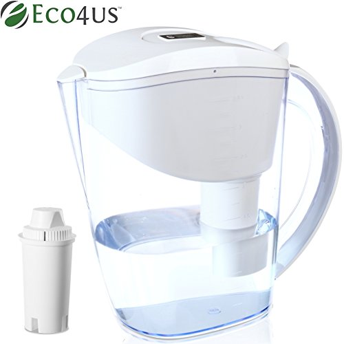 (NEW 2018 Model) Eco4us - Alkaline Water Pitcher, 3.5L Capacity, 2.0L Filtered Capacity BPA Free, Filtered Water Pitcher, Filter Included by Eco4us