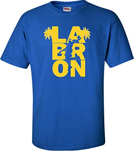 Large Royal Blue Adult LA Bron King of Los Angeles T-Shirt (Los Angeles Kings Burger King Jersey For Sale)