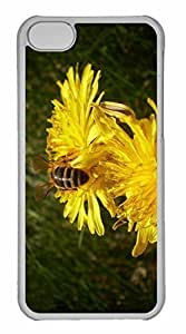 LJF phone case iphone 4/4s Case, Personalized Custom Bee 13 for iphone 4/4s PC Clear Case