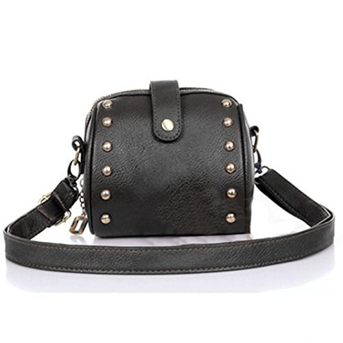 Women girl Bag, Gillberry Mini Bag Camera Bag Rivets Small Bag (Black)
