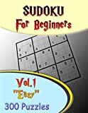 """Sudoku For Beginners Vol.1 """"easy"""" 300 Puzzles: Brain Entrainment And Development Books Games"""