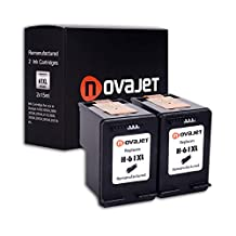 Novajet Remanufactured Ink Cartridges Replacement for HP 61XL (2 Black) High Yield With Ink Level Display For Deskjet 1000 1010 1050 2000 2050 2510 2540