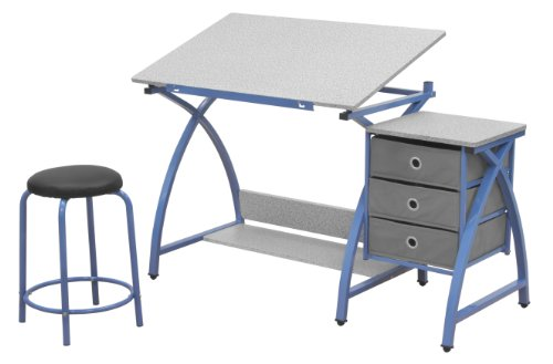 SD STUDIO DESIGNS Studio Designs 2 Piece Comet Art, Hobby, Drawing, Drafting, Craft Table with 36