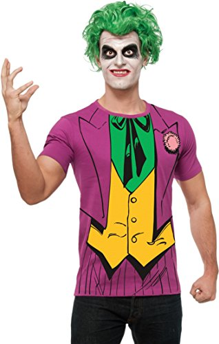 Rubie's DC Comics Justice League Superhero Style Adult Printed Top The Joker, Purple, Large (Joker Superhero)