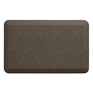 "NewLife by GelPro Anti-Fatigue Designer Comfort Kitchen Floor Mat, 20x32"", Grasscloth Pecan Stain Resistant Surface with 3/4"" Thick Ergo-foam Core for Health and Wellness"