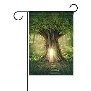 Vipsk Magic Tree Casa Larga poliéster Jardín indicador de la Bandera 28x40 (en) Multi