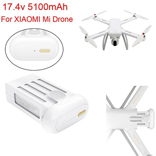 Inverlee 17.4V Max 5100mAh Battery For XIAOMI Mi Drone 4K Wifi FPV Quadcopter (White) by Inverlee