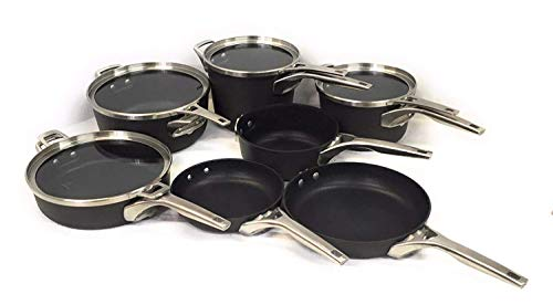 Calphalon Premier Hard Anodized Nonstick Space Saving cookware set 11-Piece ()