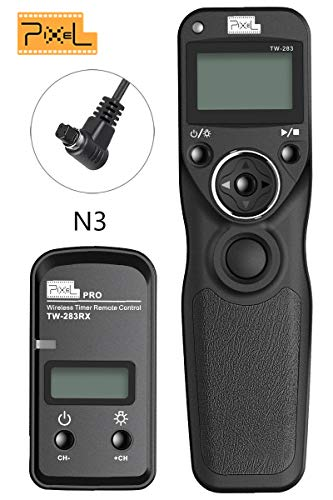 PIXEL Digital DSLR Cameras Shutter Cord Release Remote Control Timer for Canon 5D Mark III/5DS/5DS R/5D Mark II/5D Mark IV/1Ds Mark II/1Ds Mark III/1D Mark IV/1D Mark III/1D Mark II N/1D Mark II