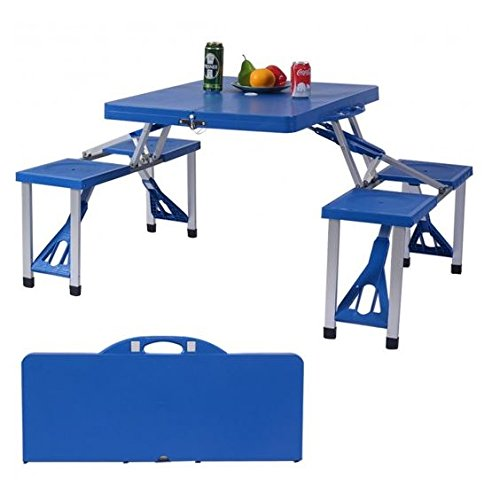 MD Group Camping Table and Bench Set Foldable Heady-duty Lightweight Outdoor Seats by MD Group