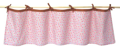 Tadpoles Field of Flowers Tie-Top Window Valance in Pink and Periwinkle (Valance Floral Fields)