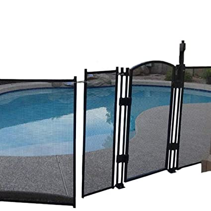 sentry safety diy pool fence by ez guard 4 12 long removable child - Removable Pool Fence