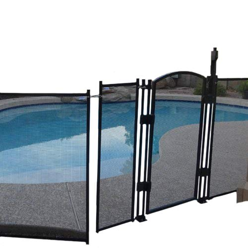 (Sentry Safety DIY Pool Fence by EZ-Guard 4' 12' Long Removable Child Barrier Pool Safety Mesh Fence (Black))