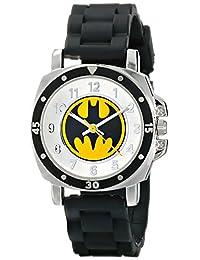 Batman BAT9032 - Reloj con correa de goma negra con logotipo de Batman, para niños