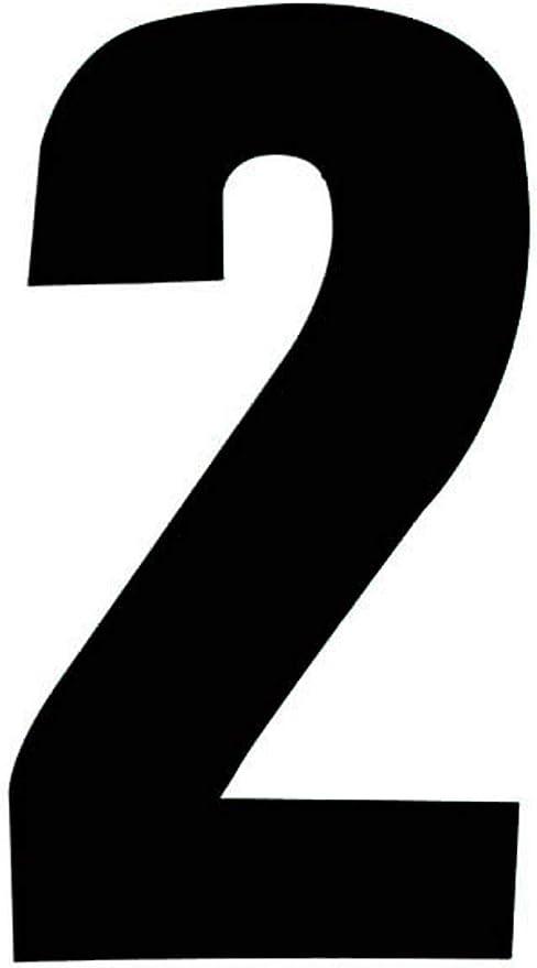 7 Self Adhesive Wheelie Bin Numbers 17cm Black by Rowan