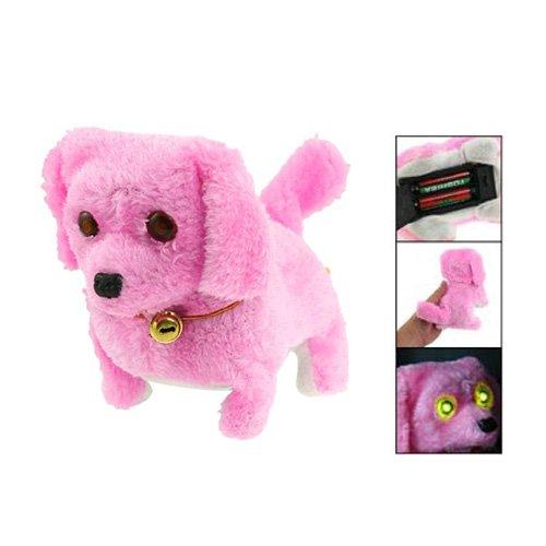 Dcolor Giocattolo cane elettronico colore rosa della peluche Campana collo Camminare e Abbaiare regalo
