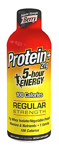 5 Hour Energy Drink with Protein, Berry, 4 Count