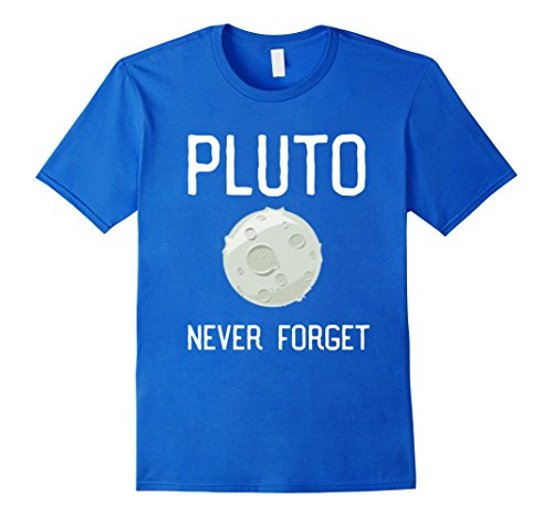 Kids Pluto Never Forget T Shirt, Space Astronomy Dwarf Planet 6 Royal (Dwarf Youth T-shirt)