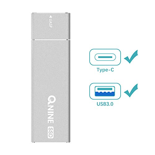 QNINE 256Gb Extreme Portable SSD (1.1 oz Weight), USB C SSD External Hard Drive - USB 3.1 High Speed External SSD for MacBook Pro, Xbox One X, etc by QNINE (Image #6)