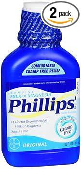 Phillips Milk of Magnesia, Original 26 fl oz, Pack of 2