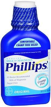 - Phillips Milk of Magnesia, Original 26 fl oz, Pack of 2