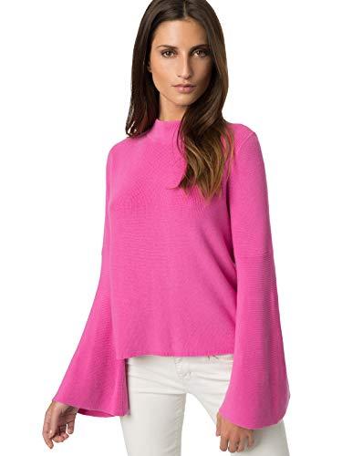 525 America Women's Cotton Bell Sleeve Sweater Pink