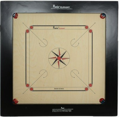 Precise Carrom Board Game Board Champion Bulldog Jumbo English Ply Wood Board with Coin & Striker, Approved By AICF & ICF, Official Board for International Carrom World Cup (BullDog, (Official Game Coin)