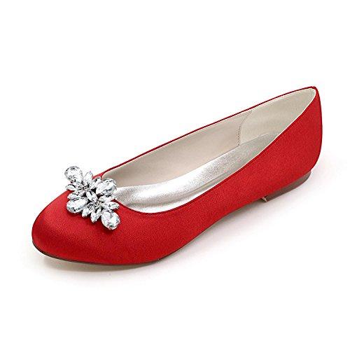 12 Red Punta Más yc Redonda Fiesta Pisos Para Mujer Zapatos Noche Colores Disponibles De Boda 9872 Y L 0q4wTq