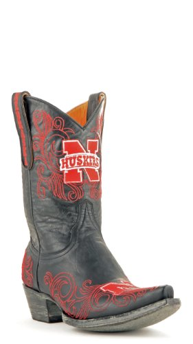 picture of NCAA Nebraska Cornhuskers Women's 10-Inch Gameday Boots, Black, 7.5 B (M) US