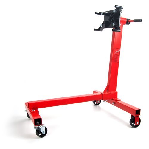JEGS 80040 Red Engine Stand 1000 lbs Capacity 360 Degree Head Motor Stand by JEGS