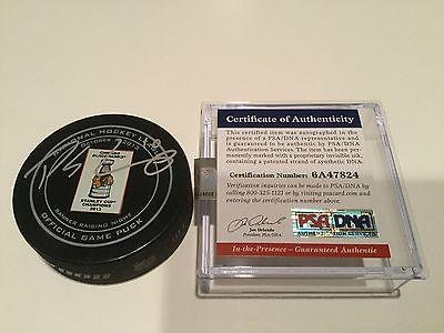 Signed Patrick Sharp Puck - 2013 Banner Raising Night 1A - PSA/DNA Certified - Autographed NHL Pucks (Patrick Sharp Puck)