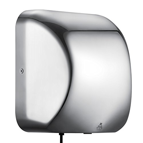 VEVOR Hand Dryers 1800W Automatic Hand Dryer High Speed 90 m/s Commercial Hands Drying Device Stainless Steel For Home Bathroom (1800w)