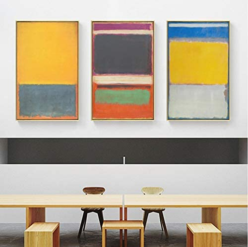 60 Cm C/él/èbre Mark Rothko Segram Murale Croquis Affiches Imprimer Peinture /À lhuile Art Moderne D/écor Mur Art Photos pour Salon Chambre 40 3 sans Cadre