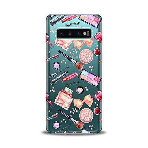 (Lex Altern Samsung Galaxy TPU Case s10 Plus A6s s9 Plus A8 s8 A9 Note Colorful Beauty Makeup Perfumes Watercolor Phone Clear Cute Lipstick Cover Silicone Durable Print Protective Girly)
