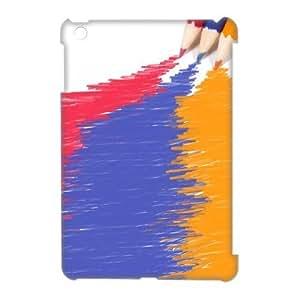 3D Case Of Art Pencil 3D Bumper Plastic Customized Case For iPad Mini