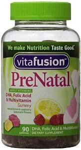VitaFusion PreNatal Adult Vitamins, Natural Lemon, Raspberry & Lemonade Flavors, 90 Gummies (Pack of 2) by Vitafusion
