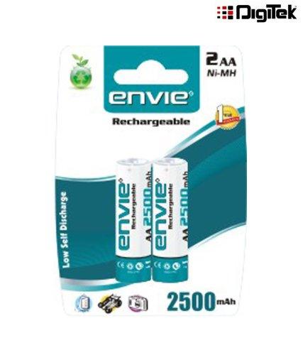 Envie 2 x AA 2500mAh Ni-Mh Rechargeable Battery