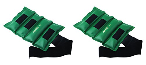 The Cuff Deluxe Ankle and Wrist Weight - 25 pound, Green - Set of 2 by The Cuff